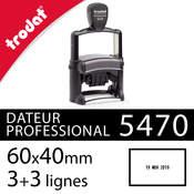 Dateur personnalisable Trodat Professional 5470 - Texte 6 lignes 60x40mm