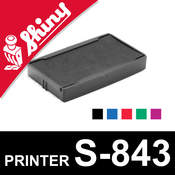 Cassette encrage Shiny Printer S-843