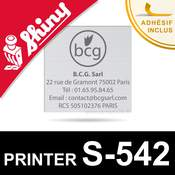Empreinte pour Shiny Printer S-542