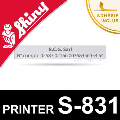 Empreinte Shiny Printer S-831