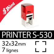 Shiny Printer S-530 - Carré 7 à 8 lignes - 32x32mm