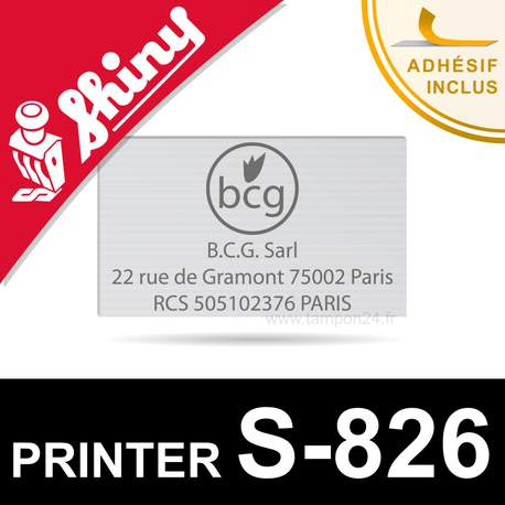 Plaque de texte pour Shiny Printer S-826
