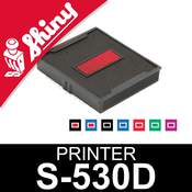 Cassette d'encrage dateur Shiny Printer S-530D