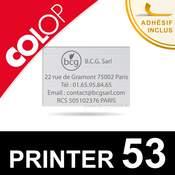 Empreinte plaque de texte pour Colop Printer 53