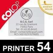 Empreinte personnalisable pour tampon Colop Printer 54