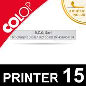 Empreinte personnalisable pour cachet Colop Printer 15