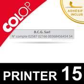 Empreinte pour Colop Printer 15