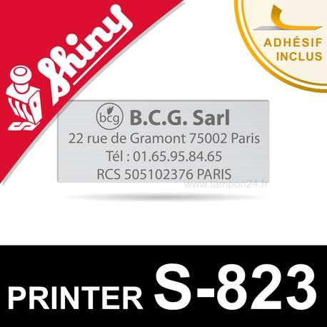 Plaque de texte pour tampon Shiny Printer S-823 - Personnalisation en ligne