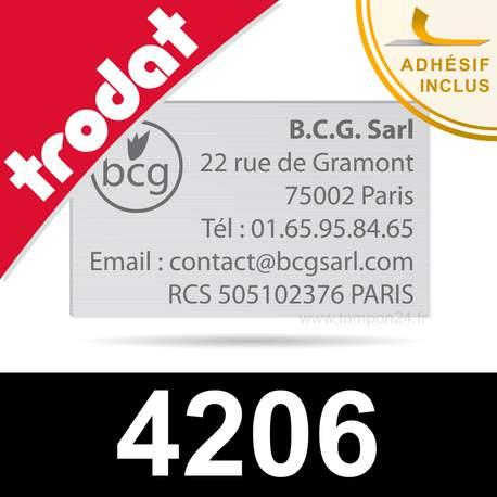 Plaque de texte de remplacement pour Trodat 4206