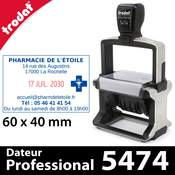 Tampon dateur personnalisable grand format - Trodat Professional 5474