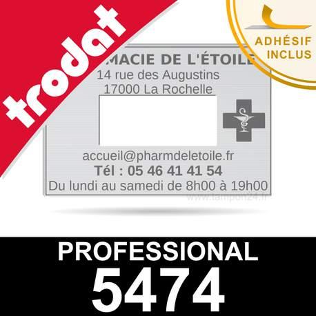 Empreinte pour dateur Trodat Professional 5474 - Plaque caoutchouc personnalisée