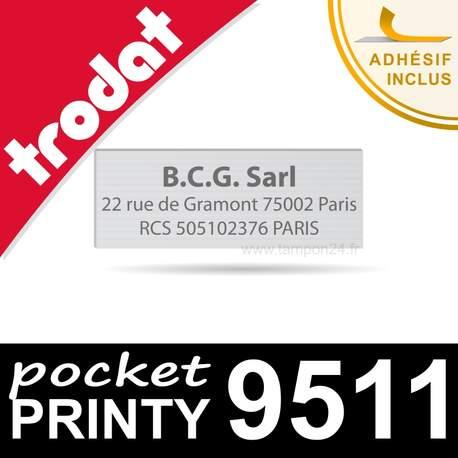Empreinte personnalisée pour Trodat Pocket Printy 9511