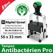 Tampon antibactérien 56x33mm 8 lignes